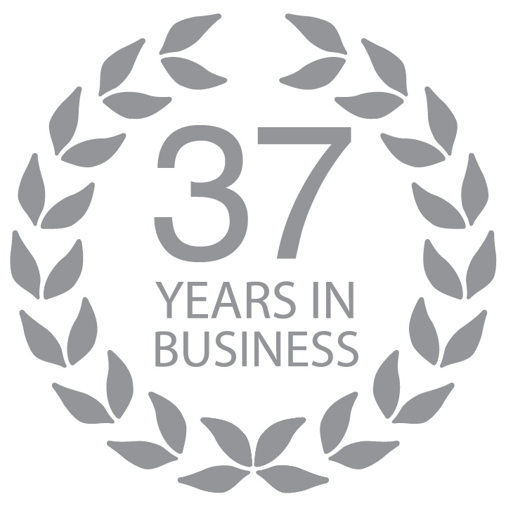 37 Years in Business Crest